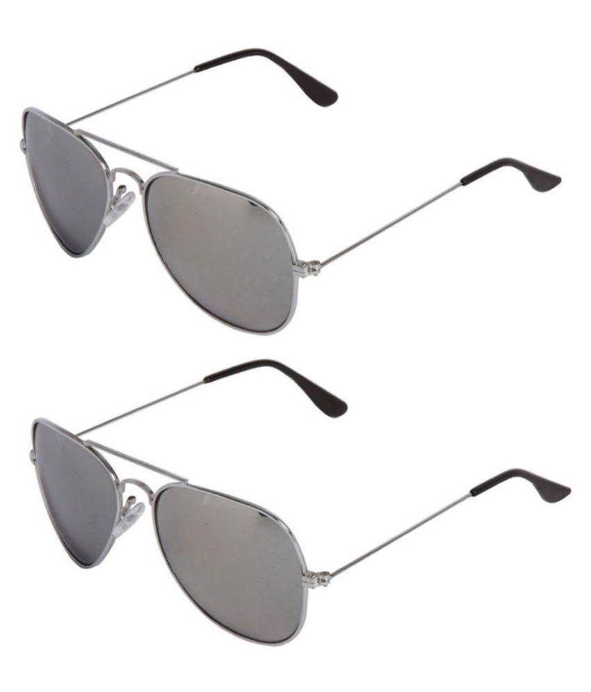 Mango People Gray Aviator Sunglasses ( HOB-CAS-139 )