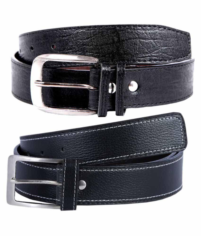 Kritika World Black Casual Belt For Men