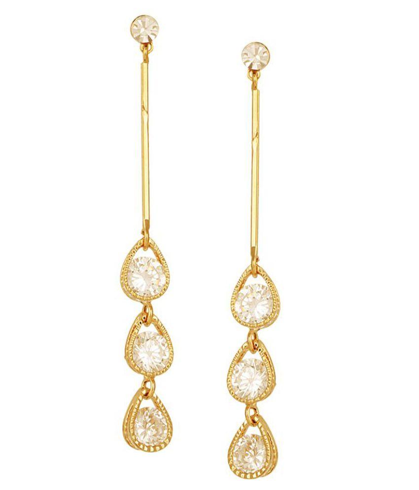 SHEEL Alloy Studded Gold Coloured Earrings