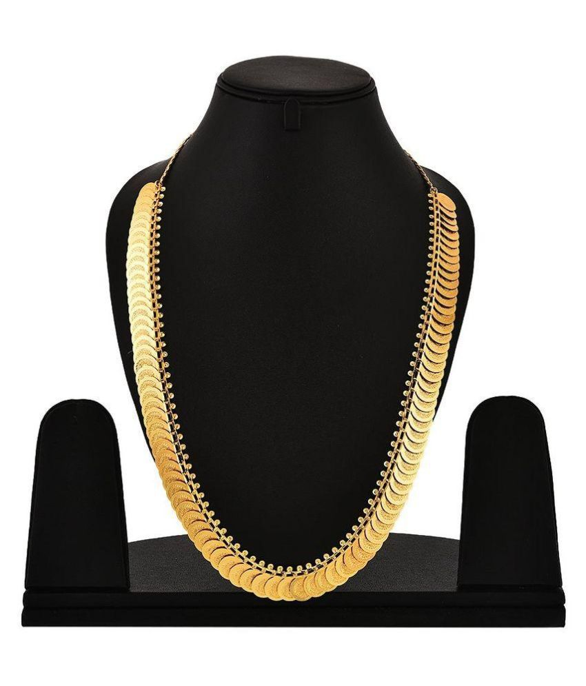 Youbella Alloy Studded Gold Coloured Necklace