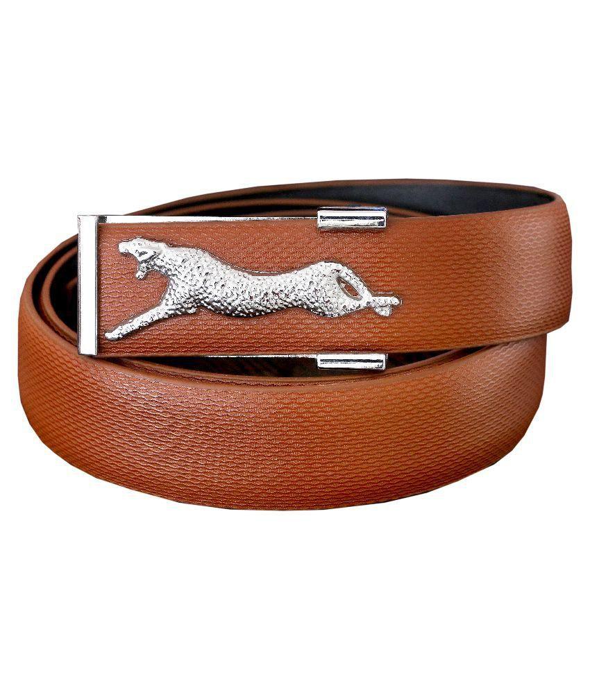 Riken Brown Leather Belt For Men