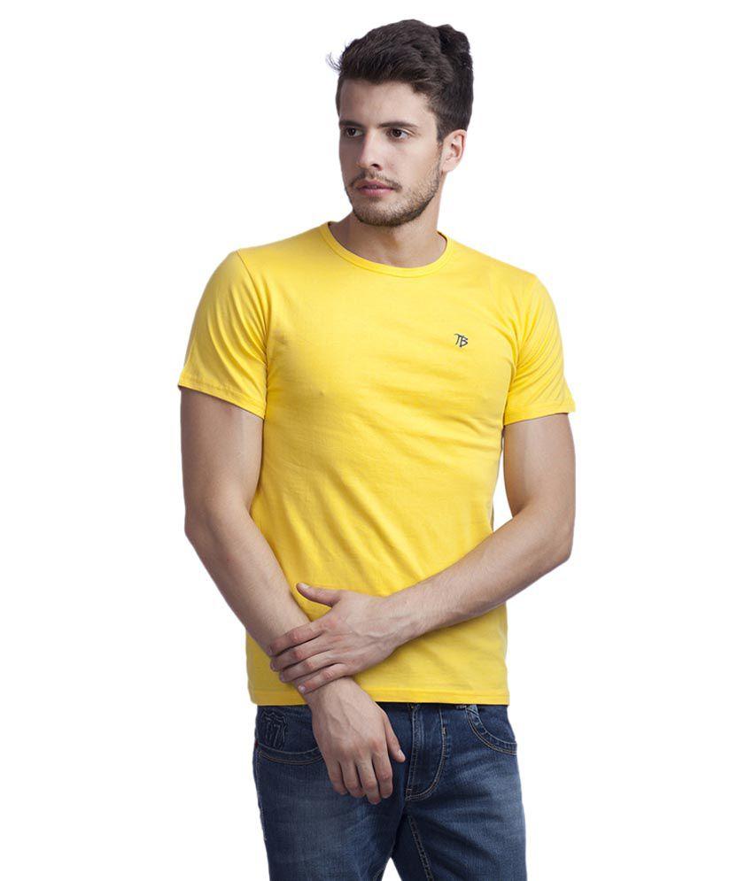 Trendy Bandey Yellow Round T Shirt