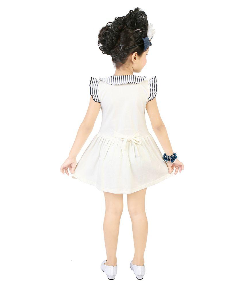 2fb01efa176d Justkids White Frock for Girls - Buy Justkids White Frock for Girls ...