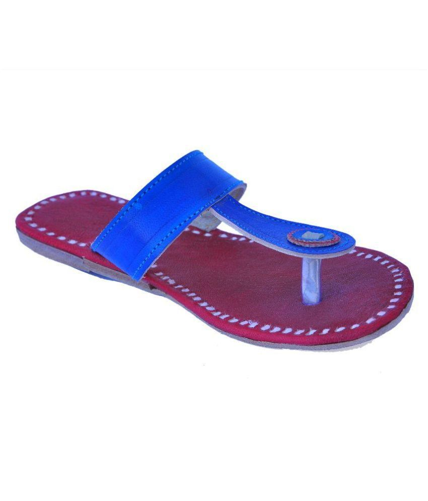 Marwadi Blue Slippers