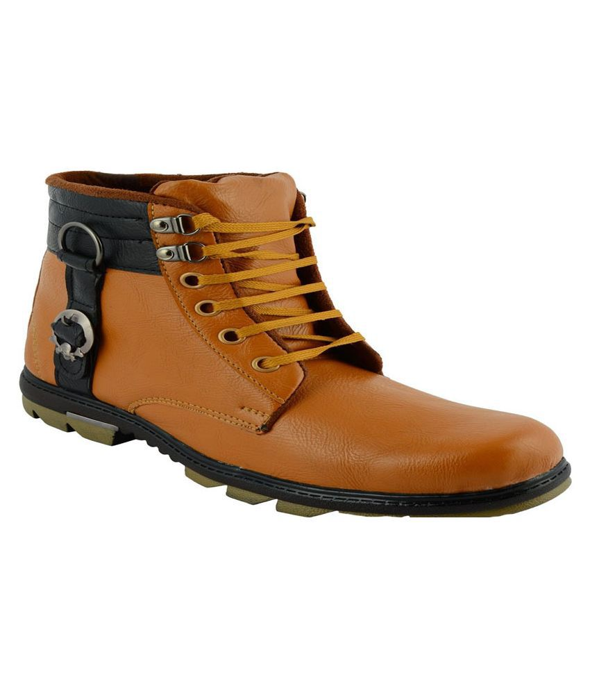 R S Shoes Tan Boots