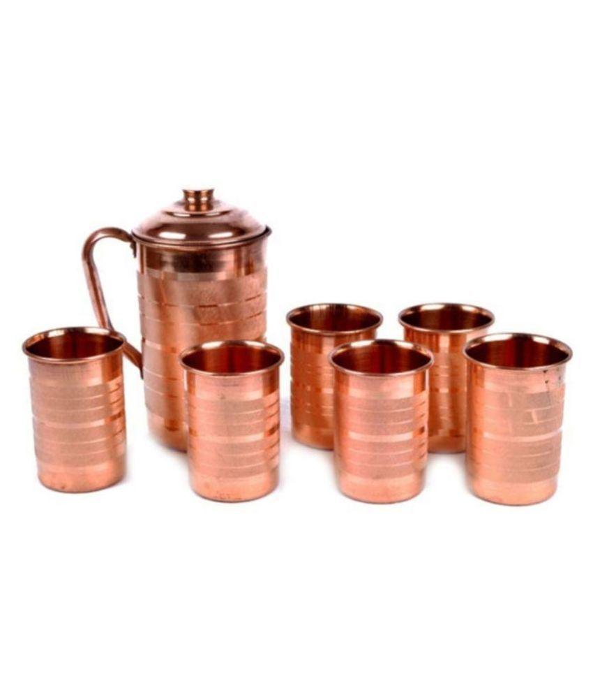 Italiano Copper Jug & Glasses - Set of 7