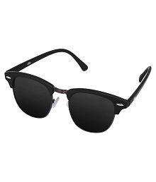 Silver Kartz Black Wayfarer Sunglasses ( wy032 )
