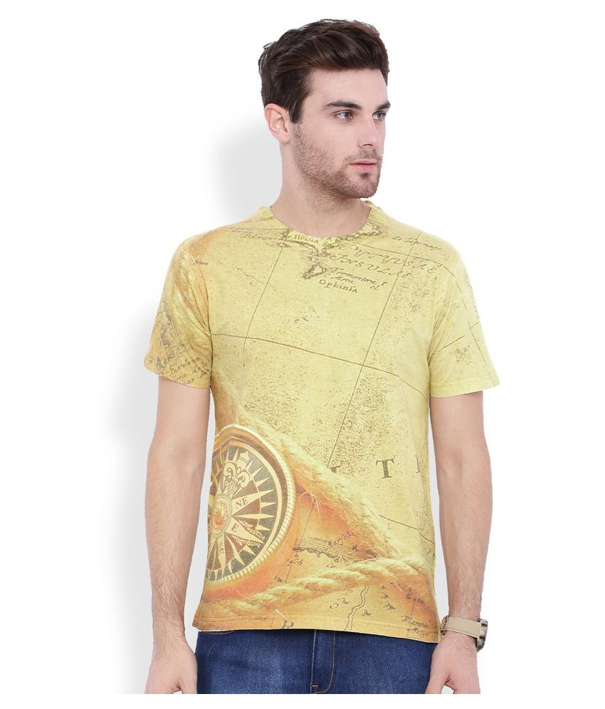 Difference of Opinion Yellow Round T Shirt