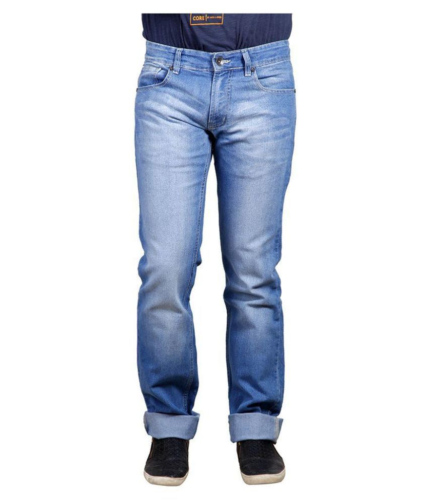 Numero Uno Blue Slim Fit Solid Jeans