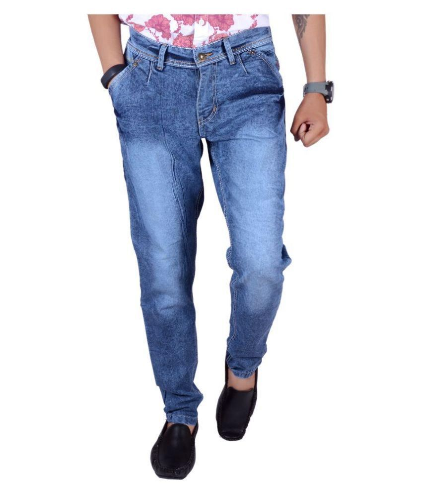 Half Deal Blue Slim Fit Faded Jeans