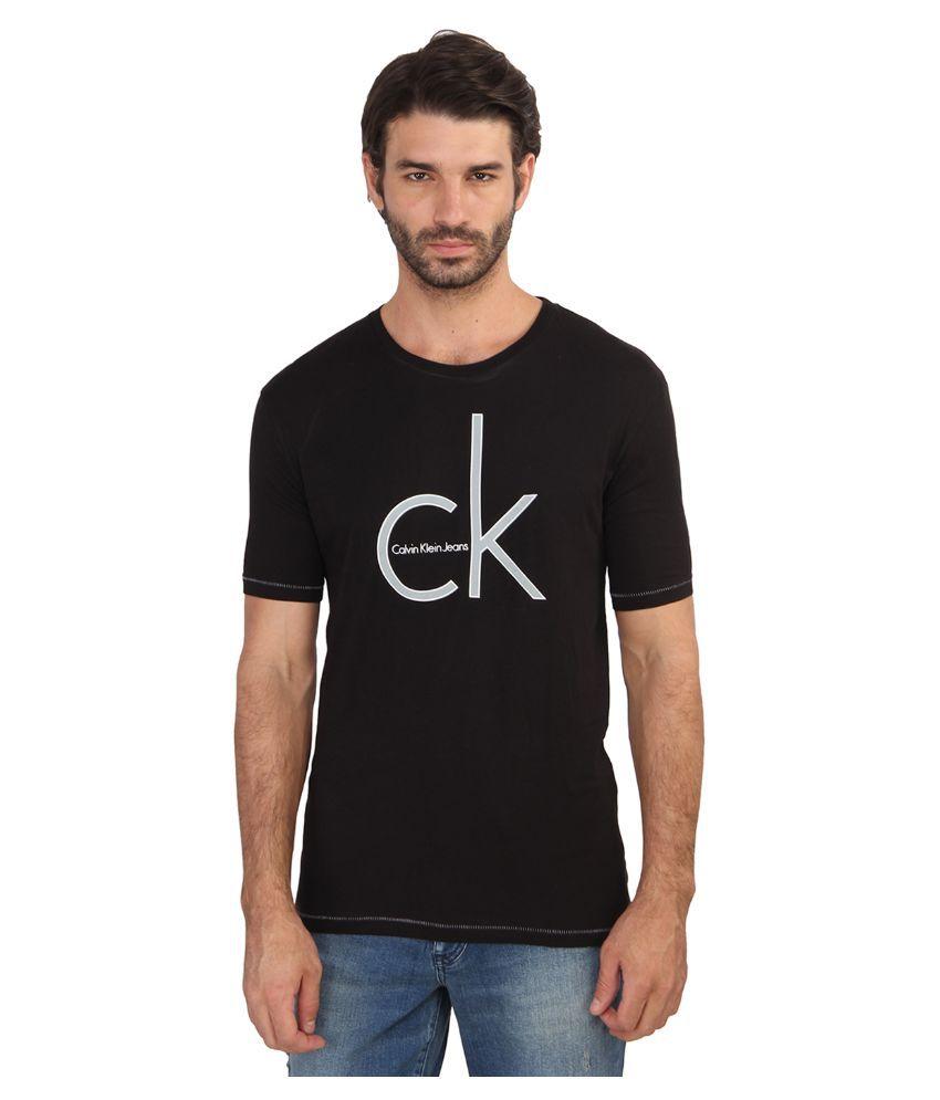 Calvin Klein Black Round T Shirt