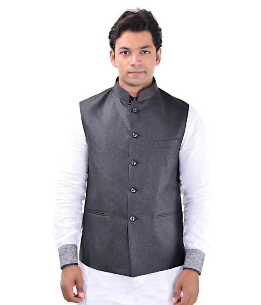 MD Fashion Grey Casual Waistcoats