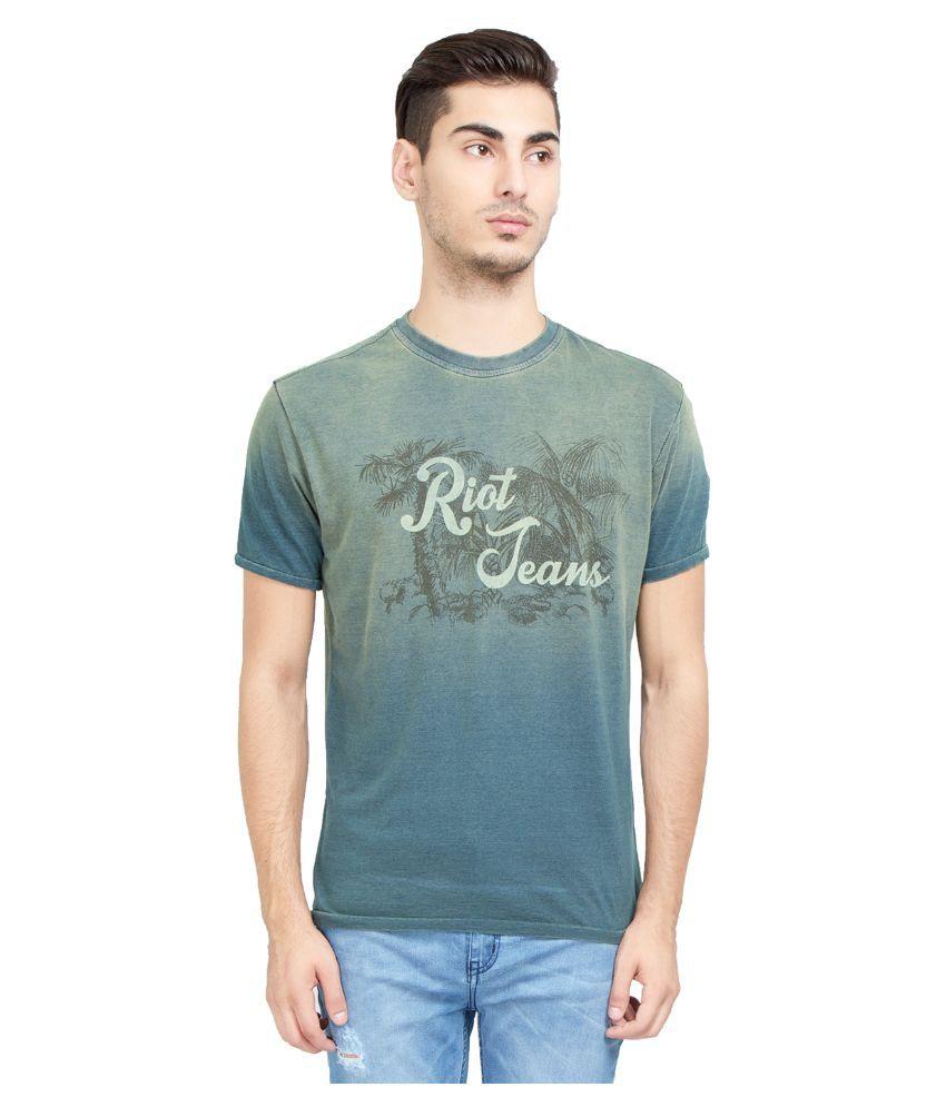 Riot Jeans Blue Round T Shirt