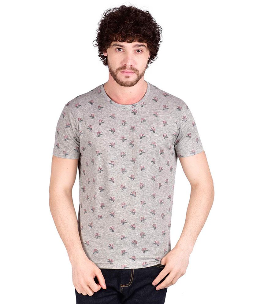 Adamo Essentials Grey Round T Shirt