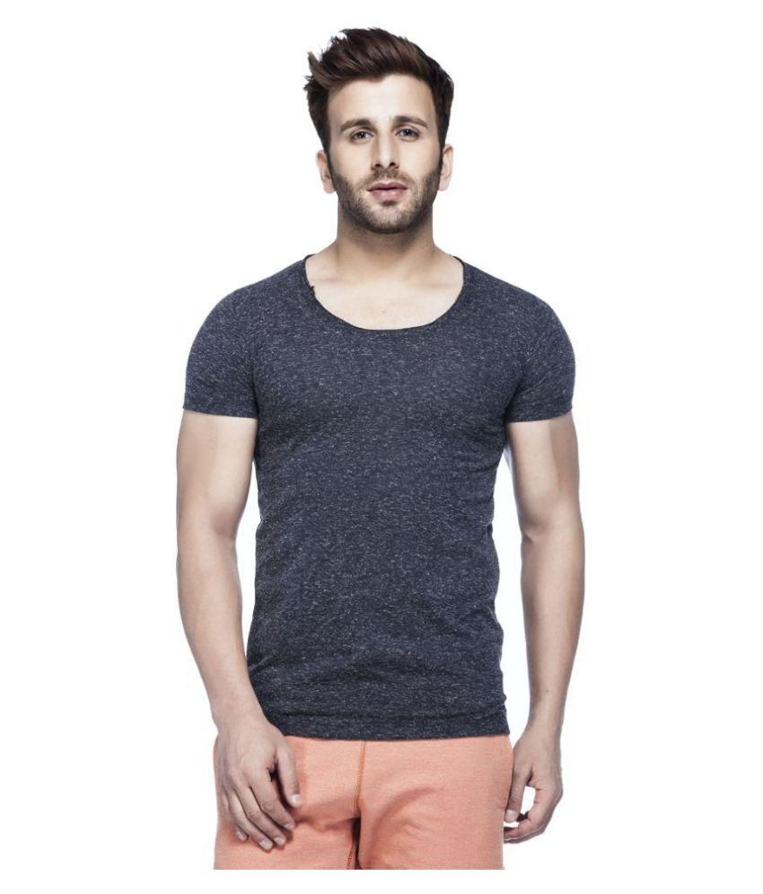 Tinted Navy Round T Shirt
