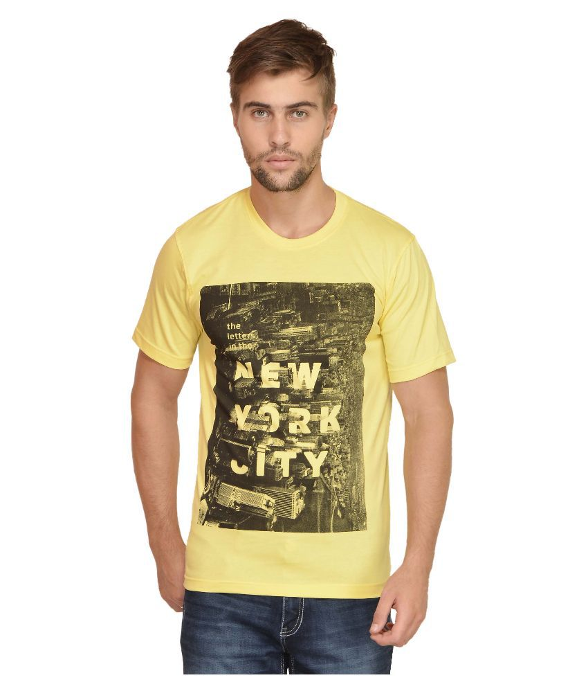 Urban Colors Yuva Yellow Round T Shirt