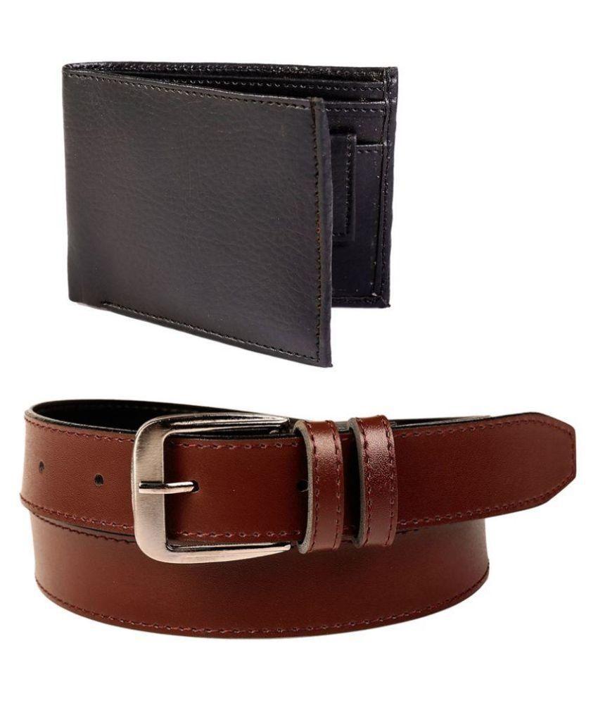 Daller Brown Belt with Wallet for Men