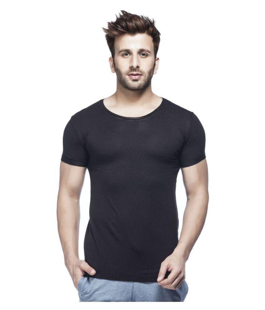 Tinted Black Round T Shirt