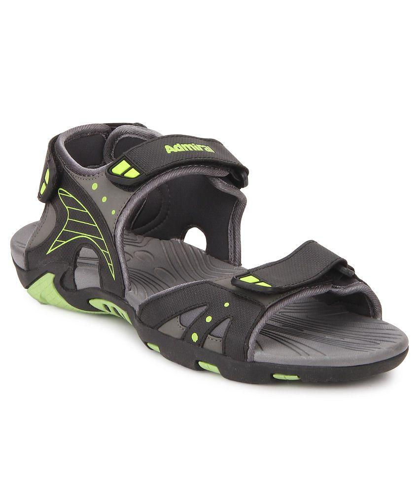Admiral Lindisfame Black Grey Green Floater Sandals