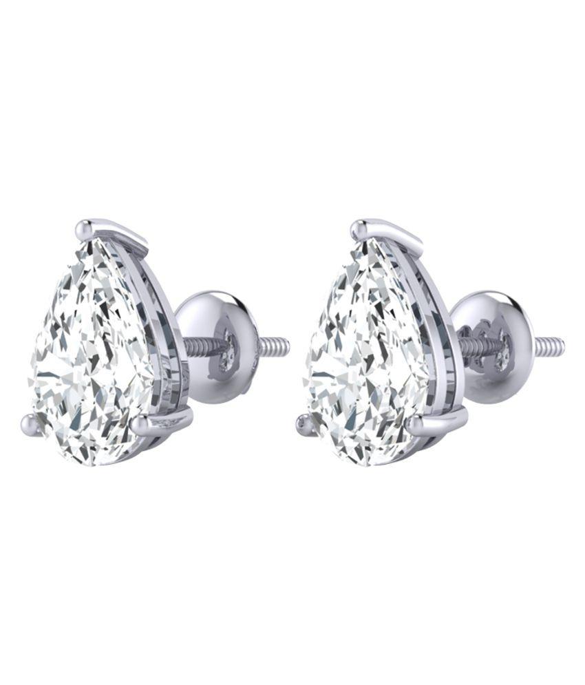 Diamond Farm 14Kt BIS Hallmarked Silver Diamond Studs