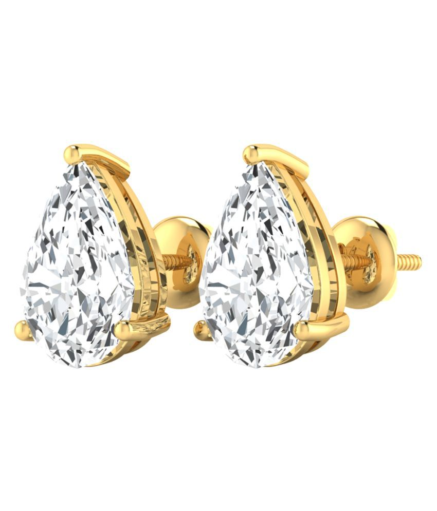 Diamond Farm 14Kt BIS Hallmarked Gold Diamond Studs