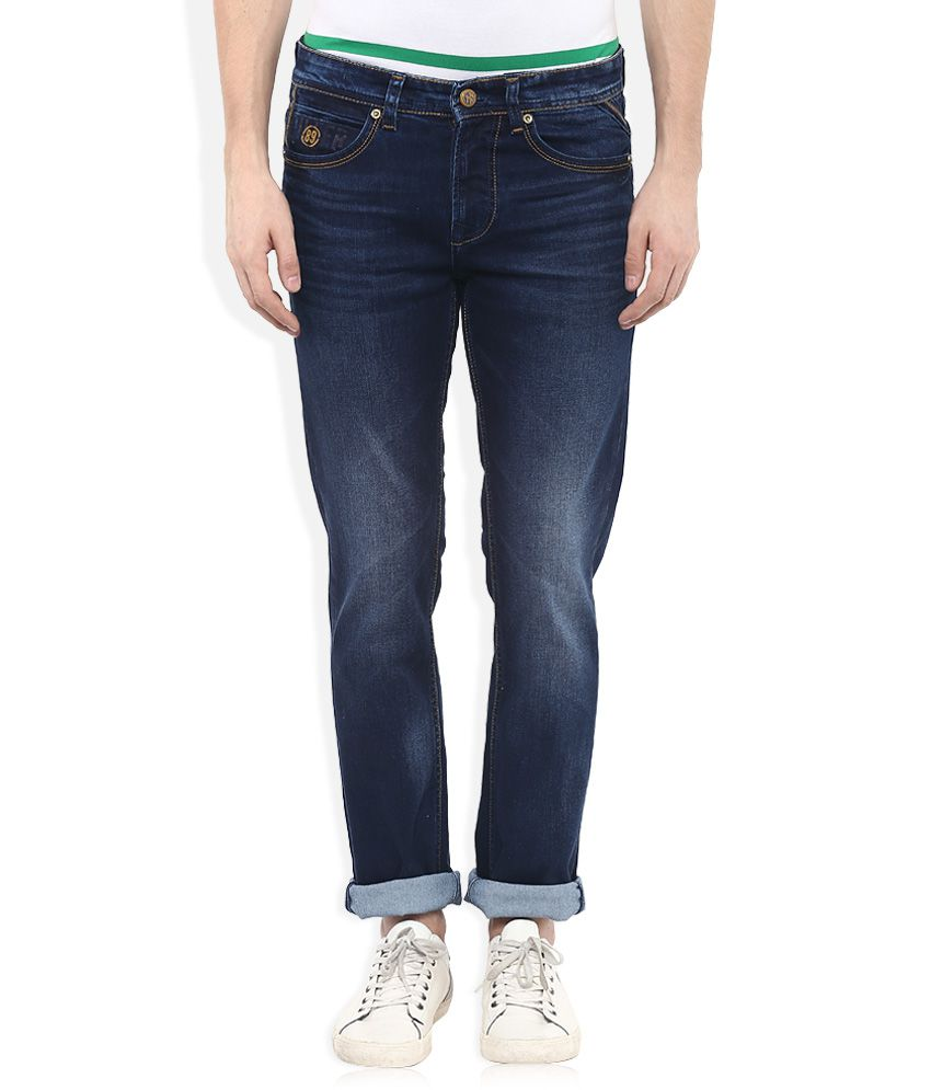 Killer Blue Slim Fit Faded Jeans