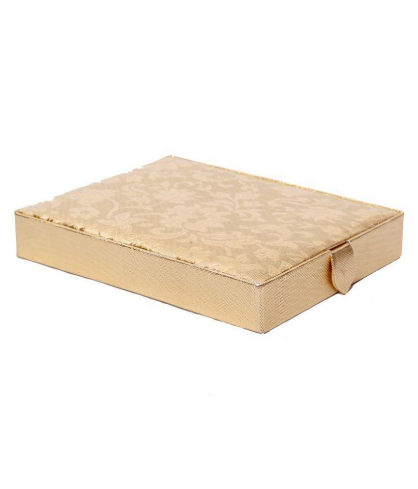 Kuber Industries Golden Ring Box in Coated Hard Board (Golden)