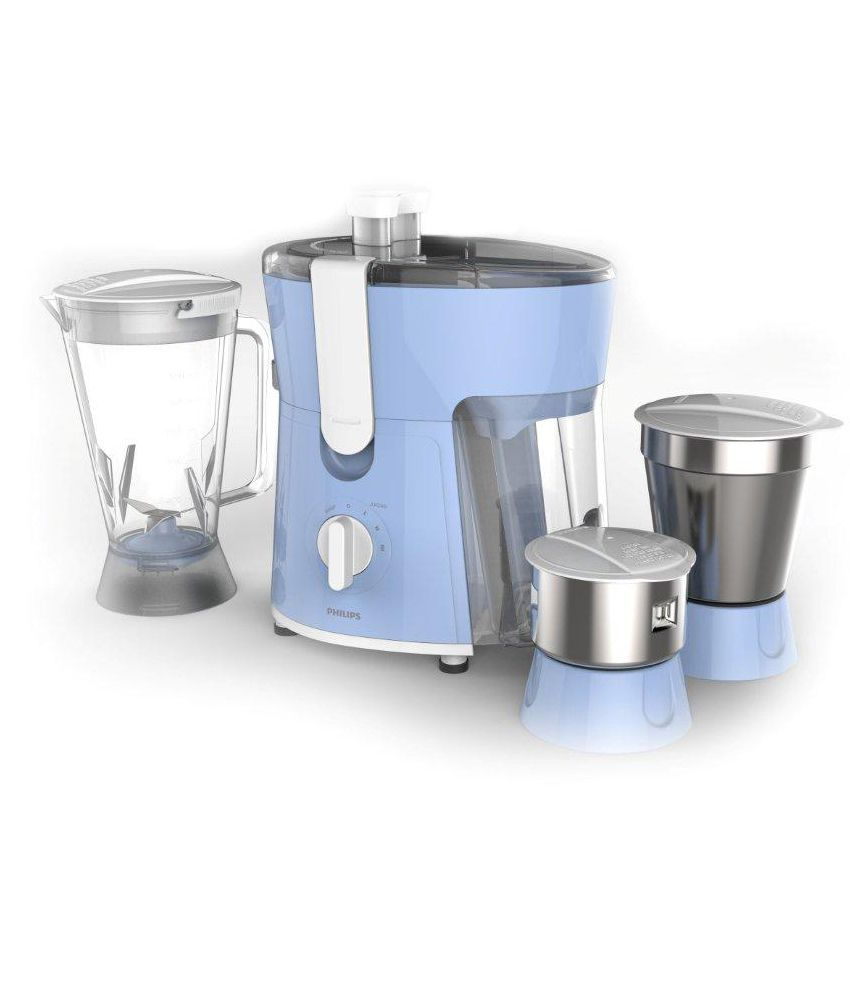 Philips HL7576 Juicer Mixer Grinder Blue and White