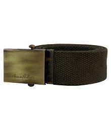 HoneyBadger Green Canvas Casual Belt for Men