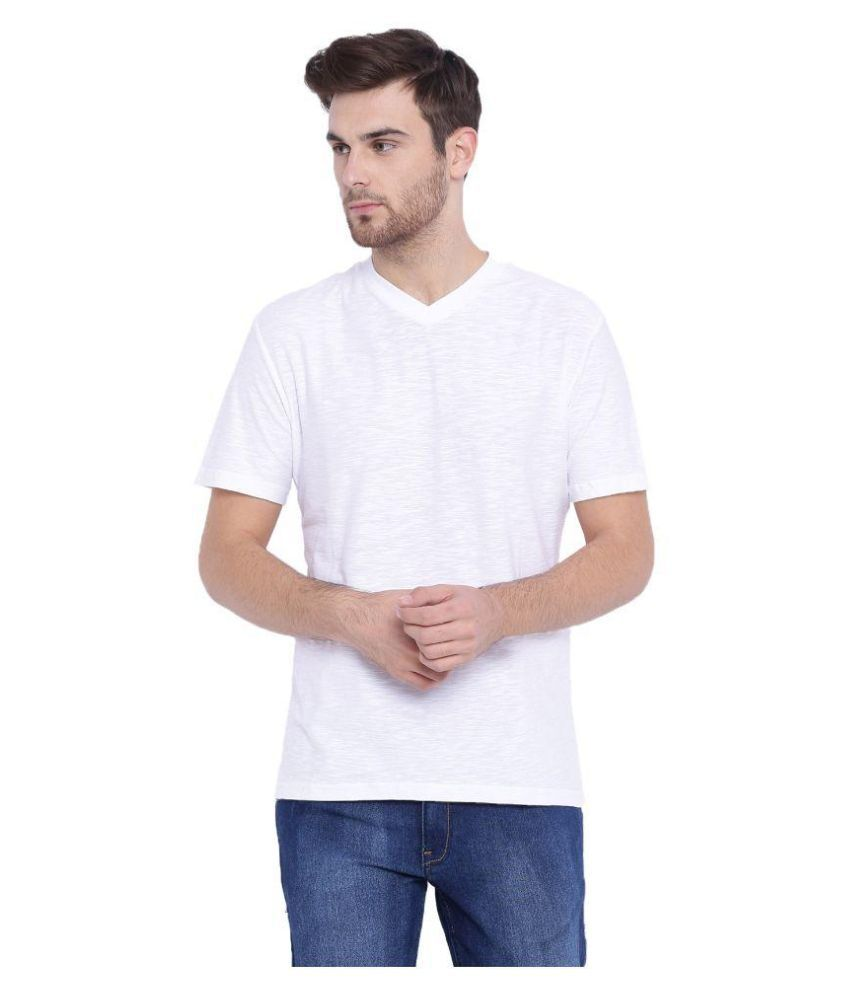Arise By Beroe White V-Neck T Shirt