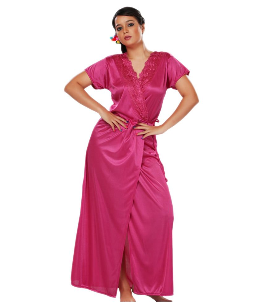 Friends And Co Pink Satin Nighty & Night Gowns