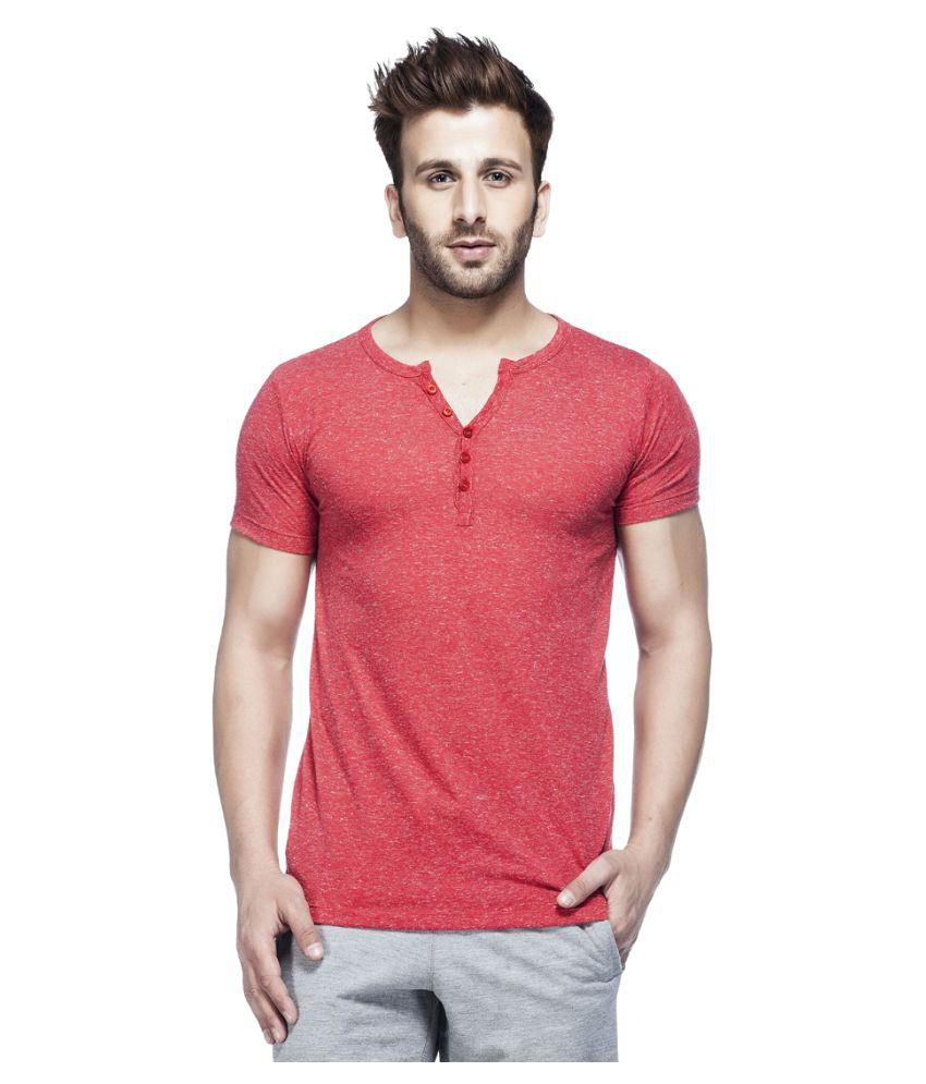 Tinted Red Henley T Shirt