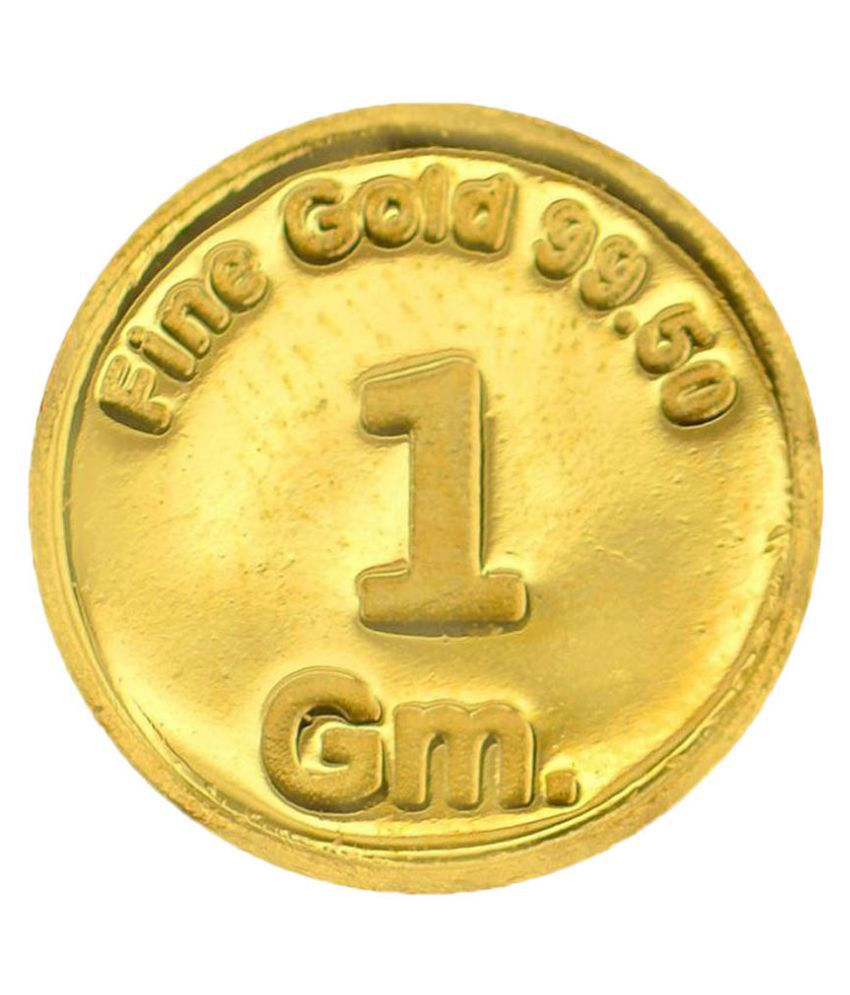 99jewels 1 Gm Gold Coins 24kt 995 Plain Gold Coin Buy