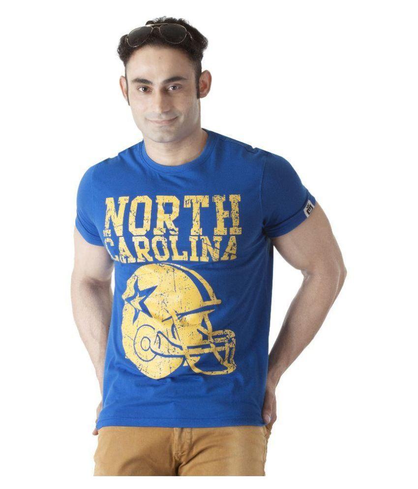 Ishwa Blue Round T Shirt