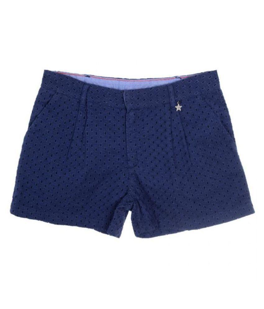Joy N Fun Blue Cotton Shorts