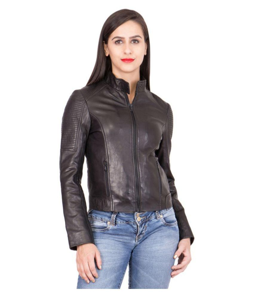 Justanned Black Leather Jacket