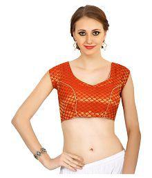 Lady In Style Orange Silk Blouses
