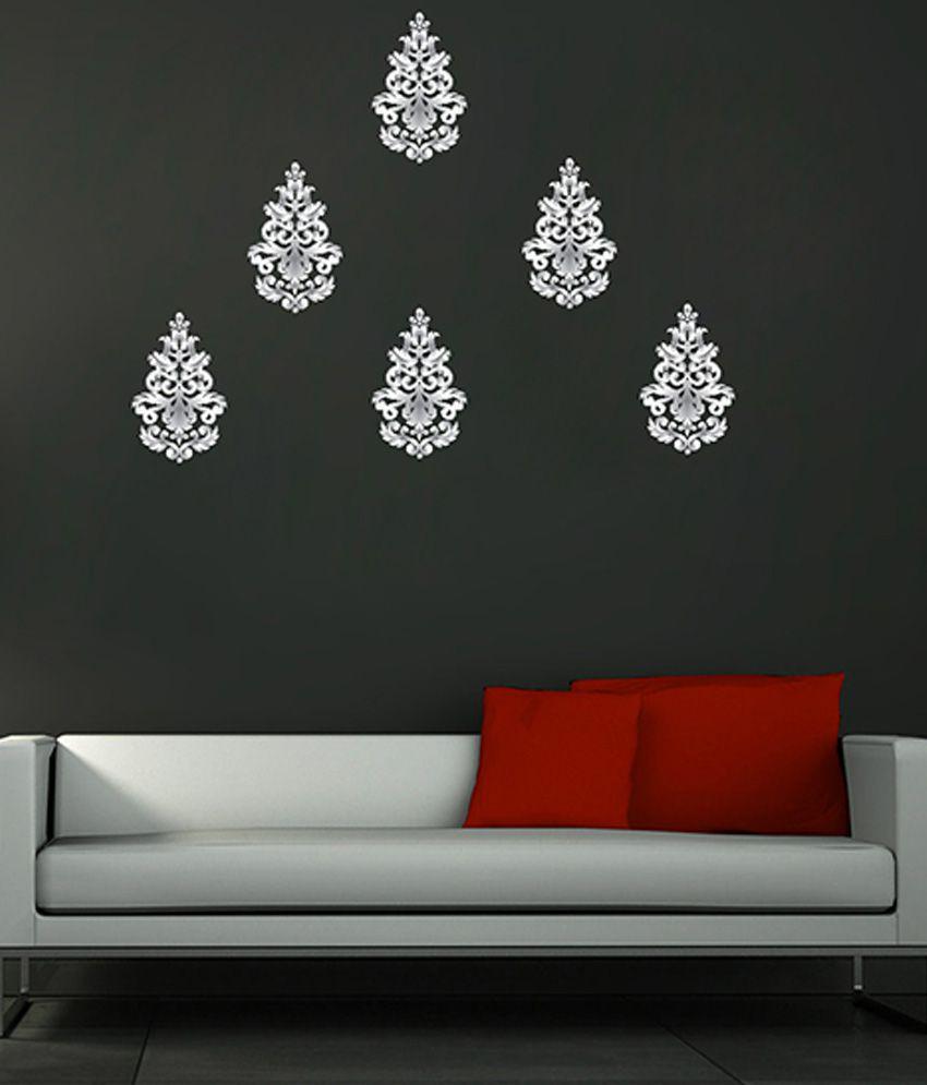 decor kafe silver vinyl wall sticker buy decor kafe medium blossom flower tree butterfly wall arts wall