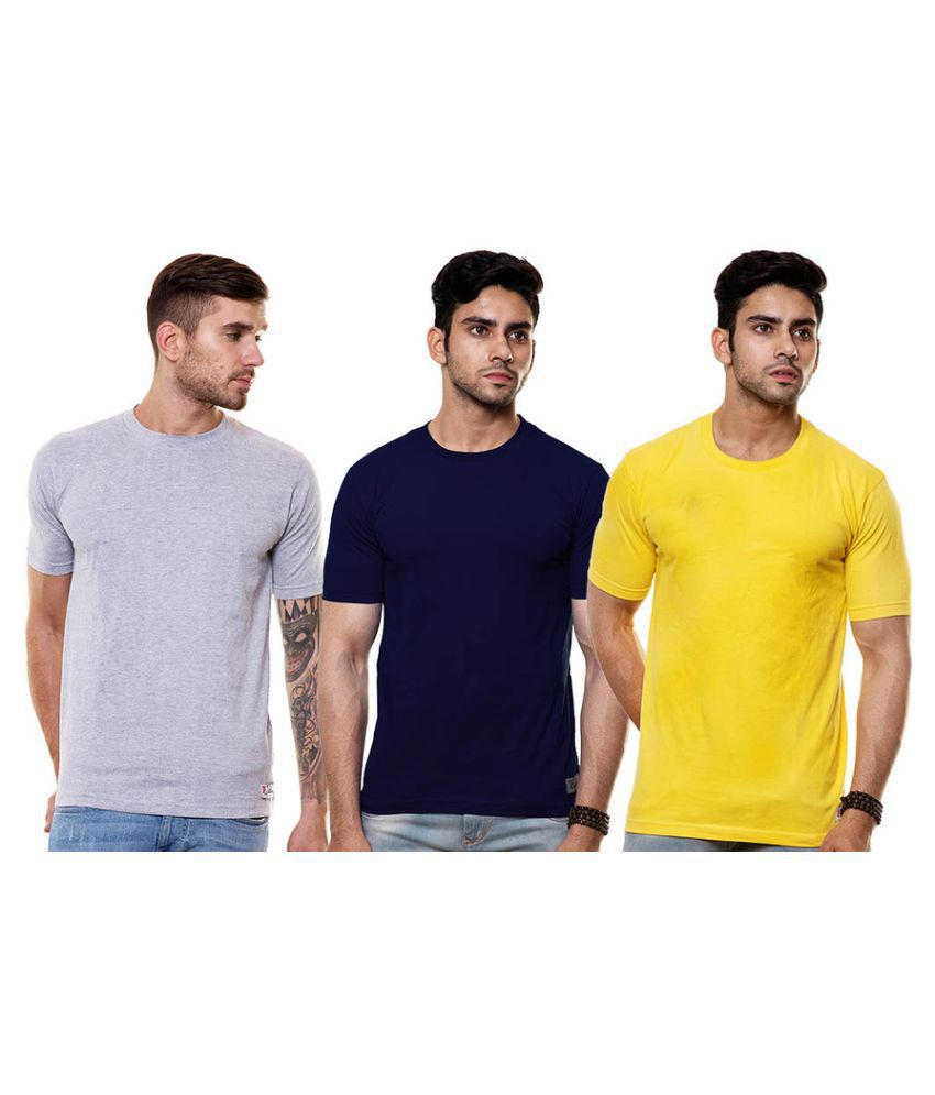 Enquotism Multi Round T Shirt Pack of 3