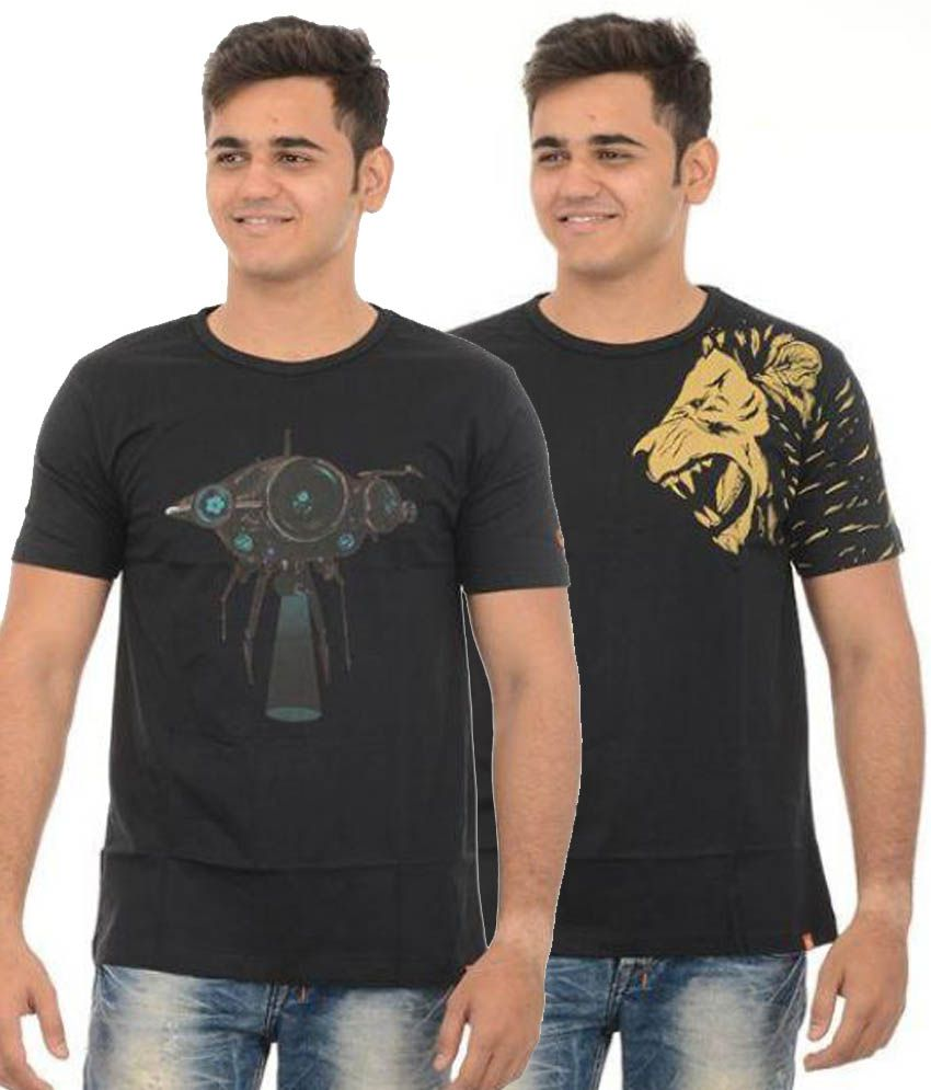Redrail Black Round T Shirt Limited Edition Combo Pack