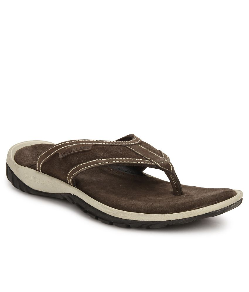 Woodland Brown Slippers Price in India