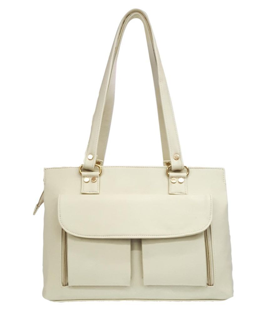 Jian White Synthetic Shoulder Bag