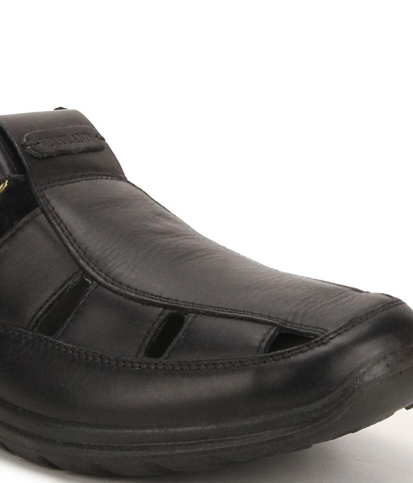 Black sandals online -  Woodland Black Sandals