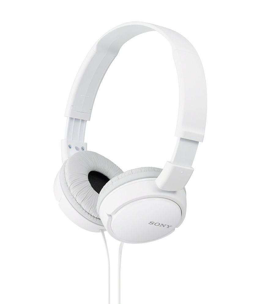 Sony MDR-ZX110A Headphones Without Mic (White)-53% OFF