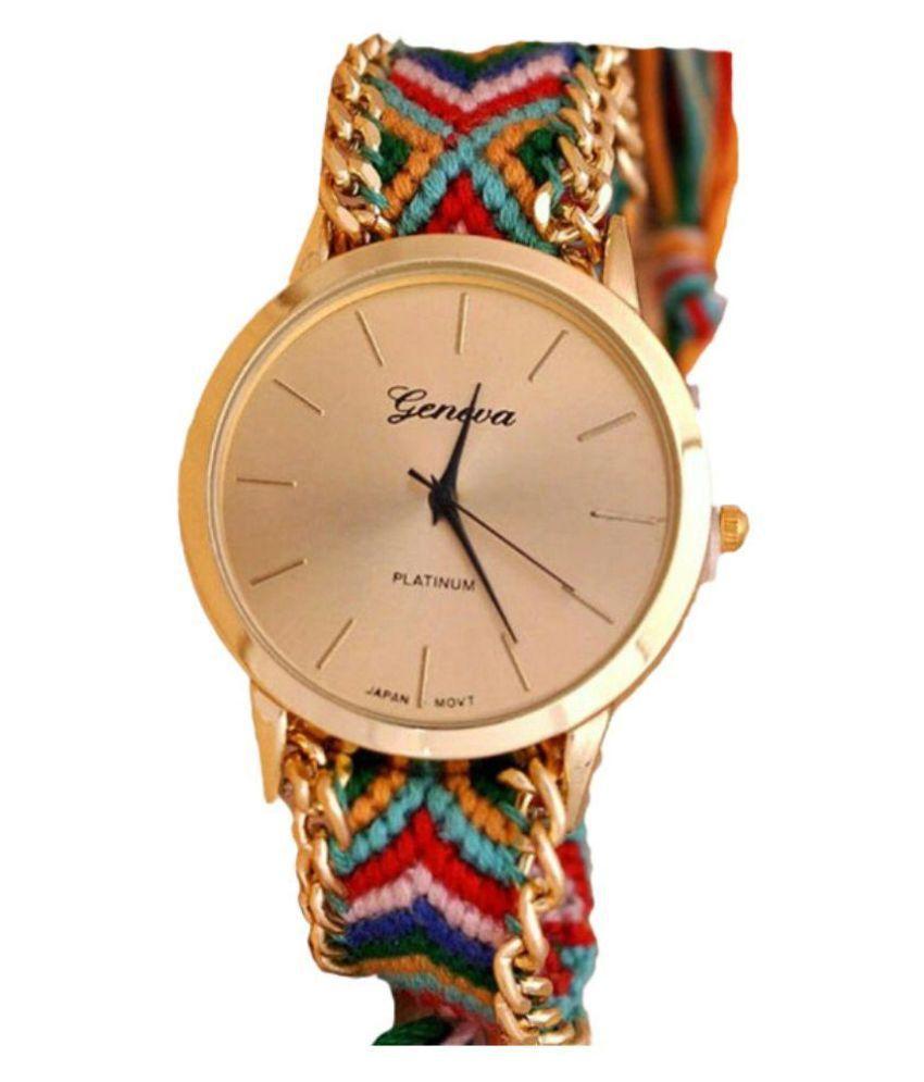 Geneva Multicolor Analog Watch