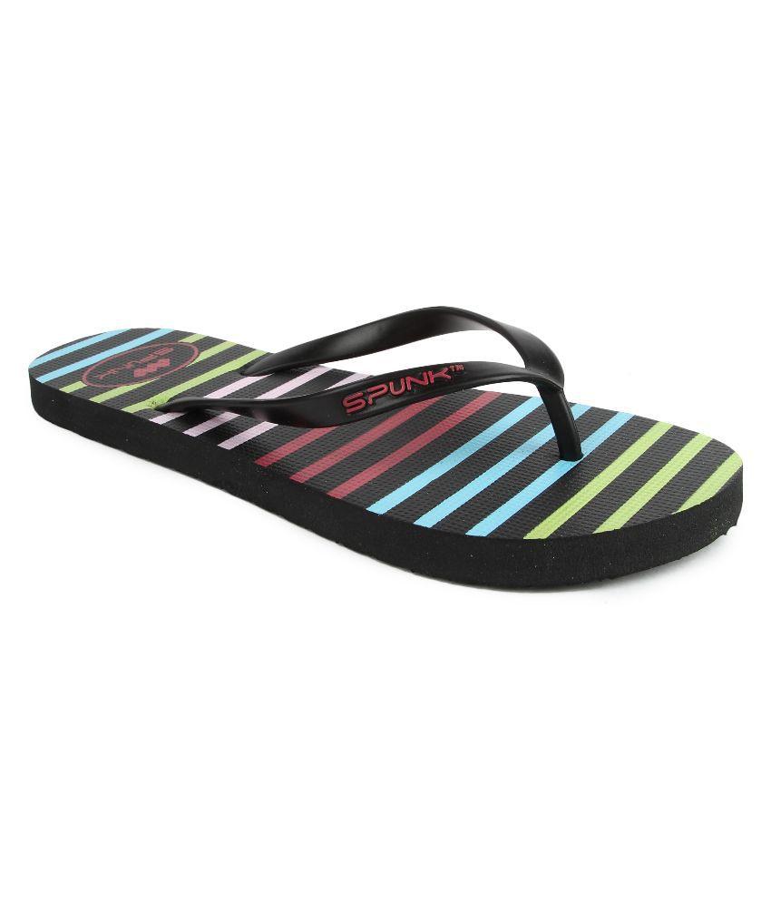 Spunk Black Flip Flops