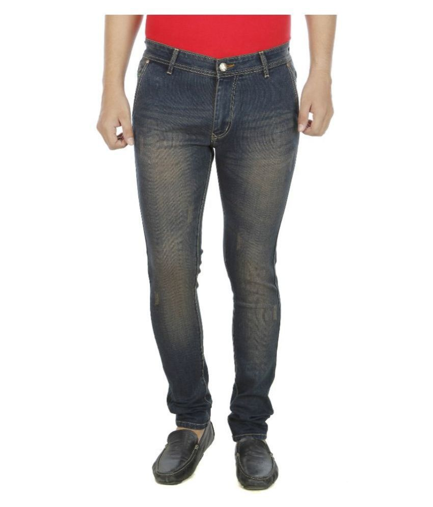 Aliens Valley Blue Slim Fit Washed Jeans