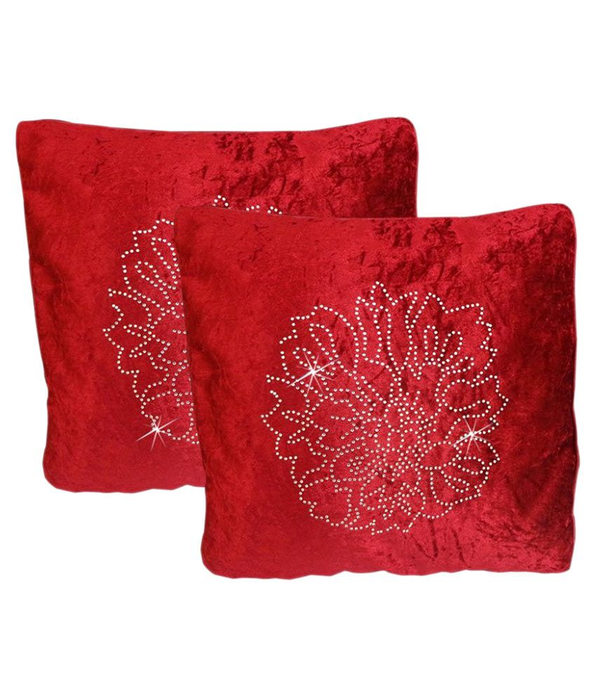 Catman Set of 2 Velvet Cushion Covers