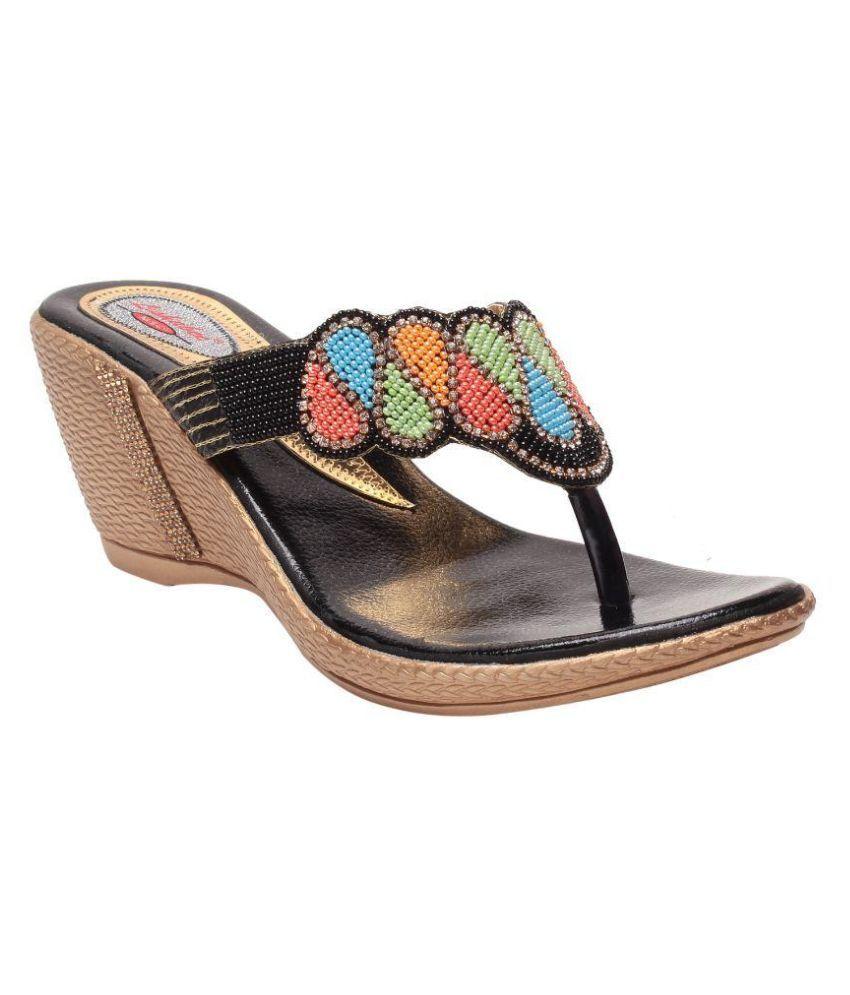 MSC Multi Color Wedges Heels