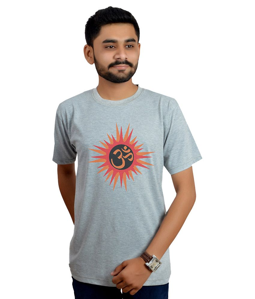 Swag Theory Grey Round T Shirt